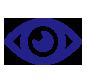 Icono de ojo color azul